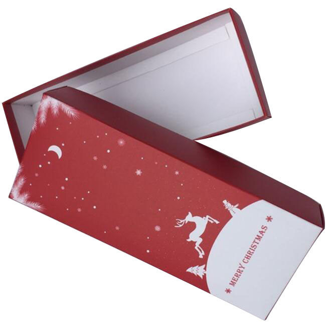 Disposable White Card Paper Reusable Christmas Boxes , Solid Gift Boxes