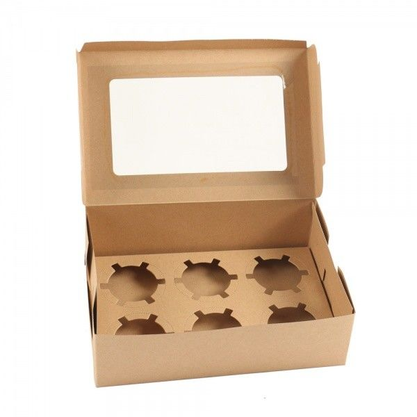 Paper Take Away Box for Cupcake Customized Design Logo Printing
